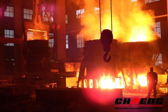 Solución de la Fundición de acero
