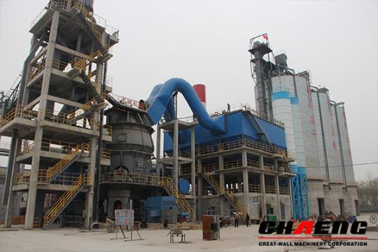 La línea de 900.000 t/a de GGBS de Hongyan Materiales de Construcción Co., Ltd